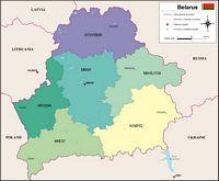 Mapa de Bielorrusia