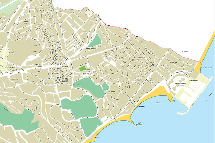Benalmadena - city map