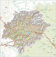 Map of El Bierzo (province of Leon, Spain)