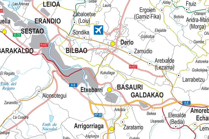 Mapa de la provincia de Bizkaia