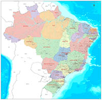 Map of Brazil - detailed map