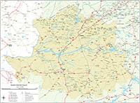 Mapa de la provincia de Caceres