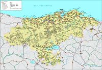 Map of Cantabria