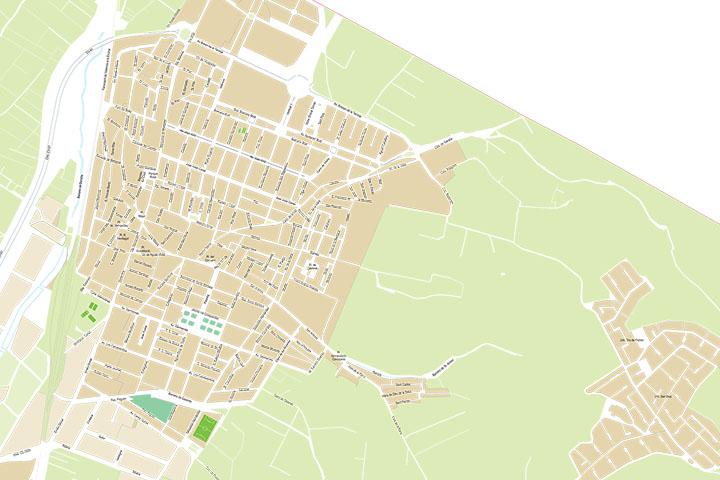 Carcaixent - city map