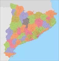 Catalunya - Mapa de municipios y Códigos Postales