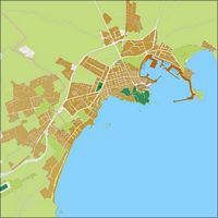 Eivissa (Ibiza, Balearic Islands, Spain) - city map