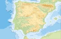 Relief map of Spain