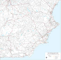 Southeast roadmap of Spain