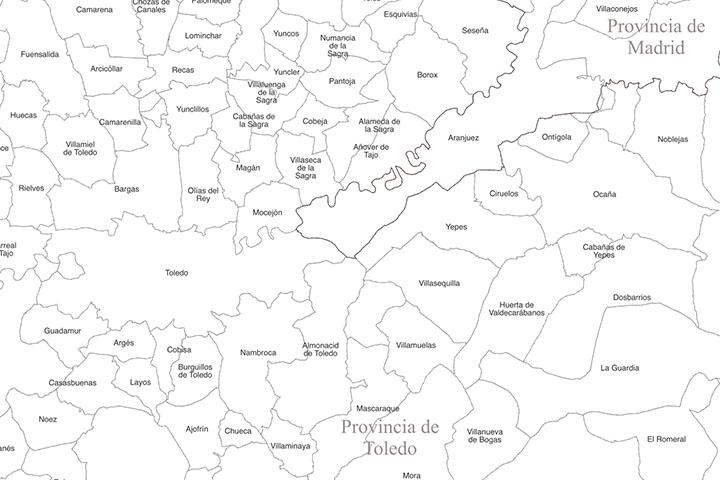 Mapa de España - CCAA, provincias y municipios
