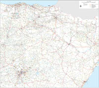 Northern roadmap of Spain