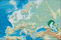 Europe: political and geographical map