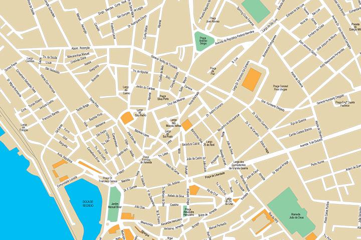 Faro (Portugal) - plano callejero