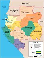 Mapa de Gabon