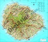 Map of La Gomera island (canary islands)