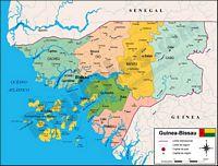 Mapa de Guinea Bissau