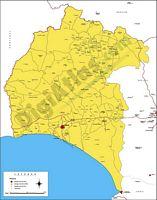 Andalucía - mapas provinciales con municipios.