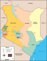 Mapa de Kenya