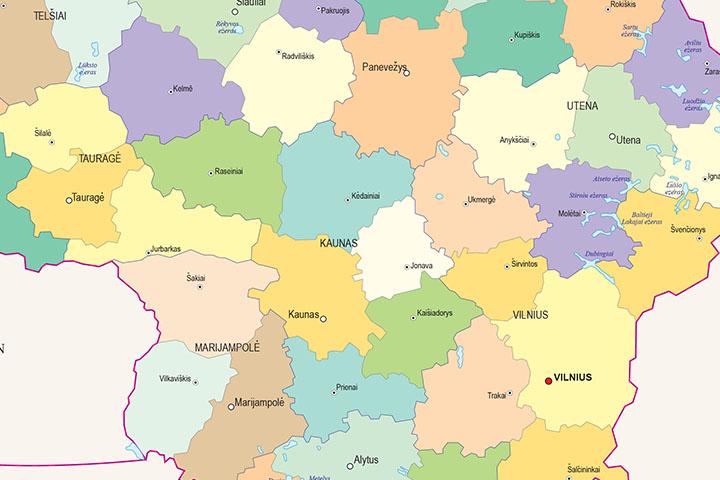 Mapa de Lituania