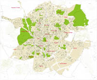 Map of the City of Madrid