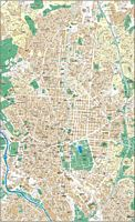 Madrid center city map