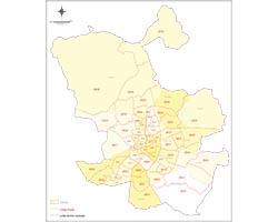 Mapa de Madrid con Distritos y Códigos Postales