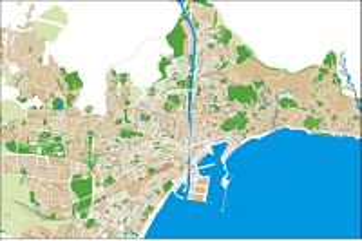 Malaga city map