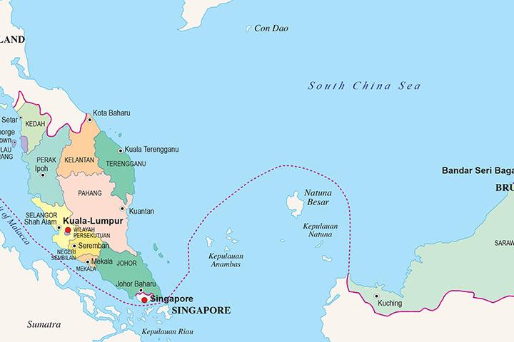 Mapa de Malasia