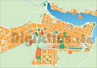 Ma� (Mahon, Minorca, Balearic Islands, Spain) - city map