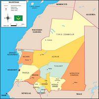 Map of Mauritania