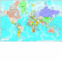 Mapamundi Físic-Polític DIN A3