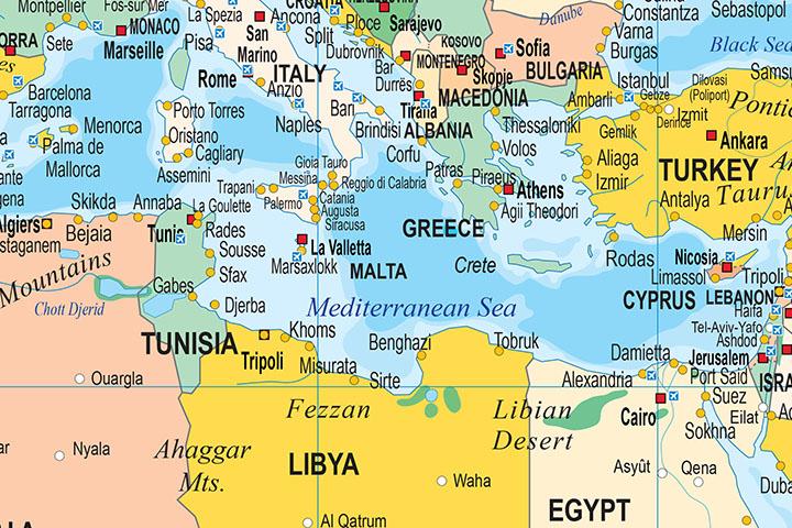 mapas del mundo, continentes y paises
