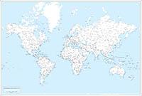 Mapamundi Paises y capitales