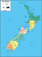 Mapa de Nueva Zelanda