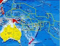 Oceania political and geographical map