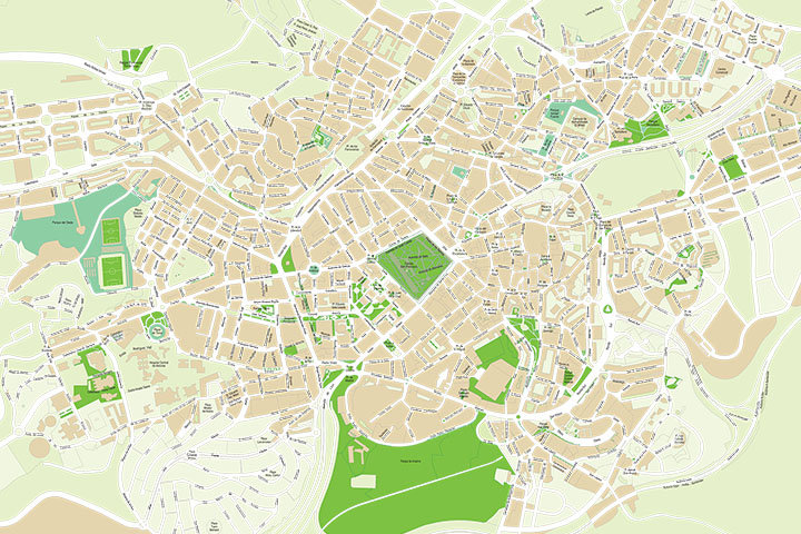 Oviedo (Asturias) - city map