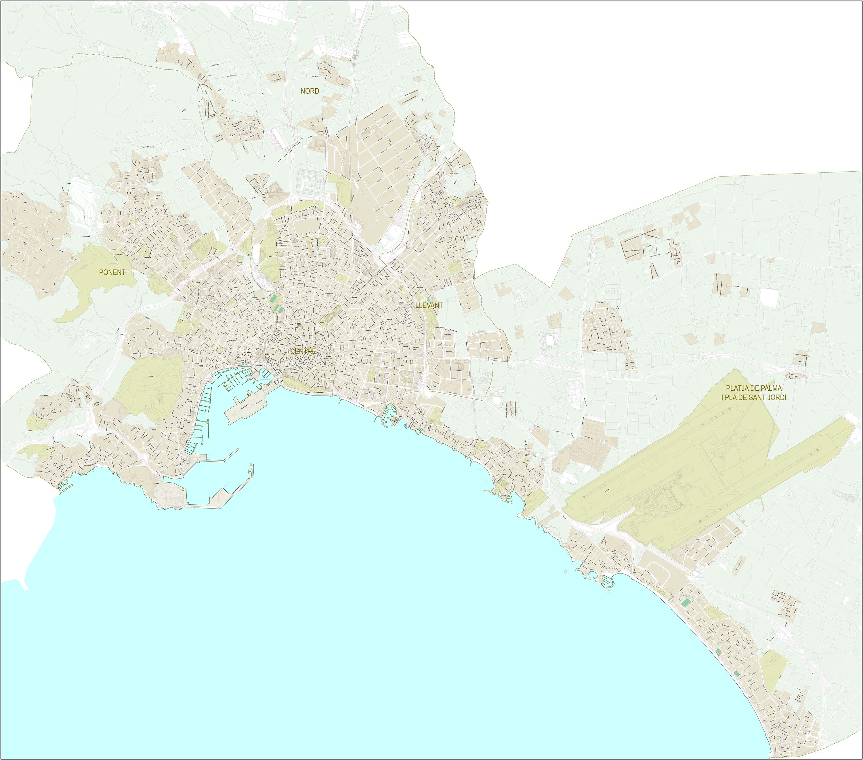 Palma de Mallorca - plano callejero