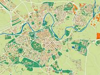 Pamplona (Iruña) city map