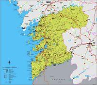 Mapa de la provincia de Pontevedra