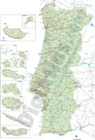 Road Map of Portugal