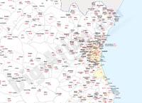Mapa de provincias con municpios y códigos postales