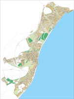 Roquetas de Mar - city map