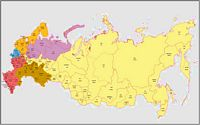Map of Russian with regions and Postal Codes