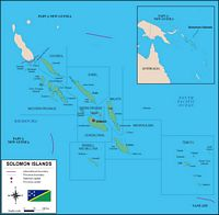 Map of Solomon Islands