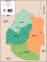 Mapa de Suazilandia
