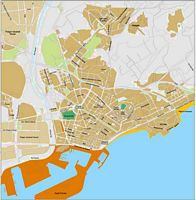 Tarragona - city map of the center