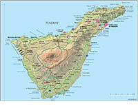 Map of Tenerife island (canary islands)