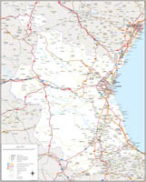Valencia - Map of province