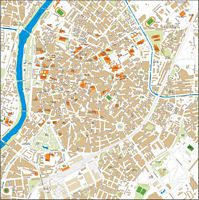 Valladolid center city map