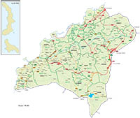 Vigo - city map with postalcodes