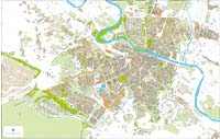 Zaragoza city map